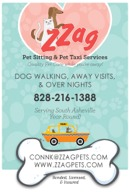 ZZAG Pet Sitting and Pet Taxi Services